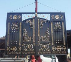 Gate Wall Design, Grill Gate Design, House Main Gates Design, Steel Gate Design, Front Gate Design, Fence Design, Door Design, Gate Designs Modern, Wrought Iron Doors