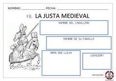 Fichas de complemento para el proyecto de 5 años sobre los castillo. Castillo Feudal, Medieval Knight, Map, Castles, Mardi Gras, Medieval Castle, Middle Ages, Maps, Peta