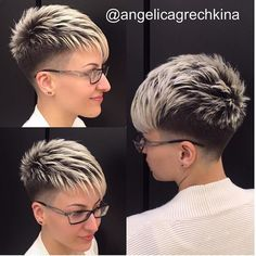 Well, one of the most trendy haircuts this year is the pixie haircut. Pixie Cut With Undercut, Undercut Curly Hair, Curly Pixie Hairstyles, Sporty Hairstyles, Short Pixie Haircuts, Undercut Hairstyles, Curly Hair Styles, Trendy Haircuts, Hairstyles 2018