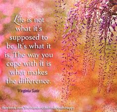 #Life.. It is what it is....  #quote by Virginia Satir