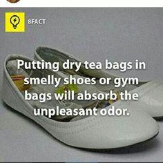 Tea bag Shoe absorbent