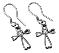 SonGear is an online Christian store with a great selection of Christian jewelry, necklaces, rings bracelets and many more that reflect a positive Christian lifestyle. Cross Earrings, Women's Earrings, Ring Bracelet, Bracelets, Christian Jewelry, Christian Shirts, Dangles, Stars, Daisy
