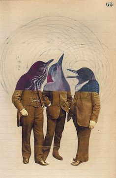 collage art This is a funny design. I love the matching suits as well as the similar dolphin heads. shows we are all really just he same no matter what we do or wear. Kindof ironic in a way Art And Illustration, Illustrations, Character Illustration, Collages, Photomontage, Dadaism Art, Inspiration Art, Art Inspo, Art Du Collage