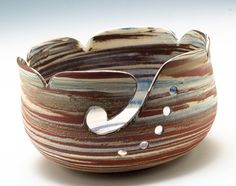 Yarn Bowl by adventuresinclay, Etsy