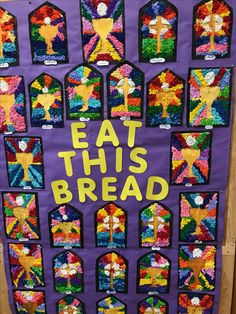 Communion art ideas Catholic Religious Education, Catholic Kids, Kids Church, First Communion Banner, First Holy Communion, Elementary Art Rooms, Art Lessons Elementary, Religion Activities, Art Activities For Kids