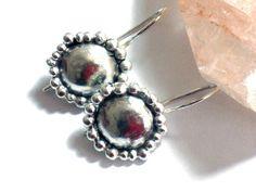 Silver Dangle Earrings Small Sterling Silver by rioritajewelry