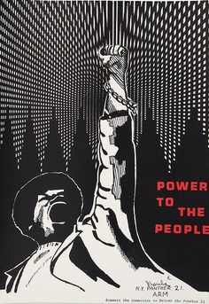 Anonymous, ca. 1971, Black Panthers, Power to the People, New York, 23 3/4 x 16 1/2 in.