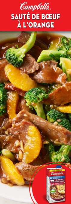 Beef and Orange Stir-fry Recipe Quick Beef Recipes, Corned Beef Recipes, Supper Recipes, Stir Fry Recipes, Quick Meals, Meat Recipes, Asian Recipes, Cooking Recipes, Healthy Recipes