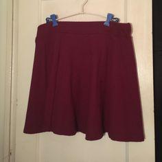 Burgundy Circle skirt Burgundy circle skirt . Zipper on back . HM. H&M Skirts Circle & Skater