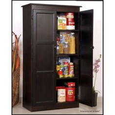 Concepts In Wood Multi-Use Storage Pantry in Espresso - KT613A-3060-E - The Home Depot