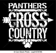 Vector - panthers cross country - stock illustration, royalty free…