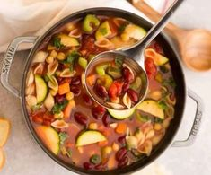 This recipe is hearty & full of fresh vegetables like carrots, zucchini, celery, tomatoes and beans. A delicious vegan recipe & simple to customize with gluten free and low carb options. Delicious Vegan Recipes, Healthy Recipes, Delicious Dishes, Healthy Dinners, Tasty, Instant Pot Beans Recipe, Low Sugar Smoothies, Lentil Potato Soup, Southwest Chicken