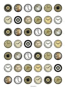 Vintage Clock Faces 1 inch Round Digital Collage is creative inspiration for us. Get more photo about home decor related with by looking … Train Miniature, Etiquette Vintage, Image Digital, Foto Transfer, Images Vintage, Bottle Cap Images, Vintage Labels, Printable Vintage, Miniture Things
