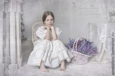 Купить нарядное платье - бежевый, однотонный, нарядное платье, кружево, шитье, хлопок, шитьё