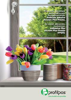 Scopri come rivestire e #decorare qualsiasi cosa con le #pellicole adesive Alcrom® Plus Presto di Profilpas! Per saperne di più scarica la brochure qui!