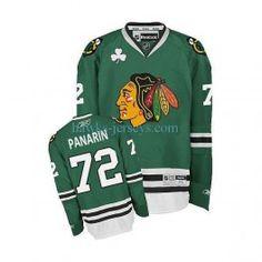 15bbed052 Artemi Panarin Green St Patrick s Day Jersey. bill thomsen · chicago  blackhawks