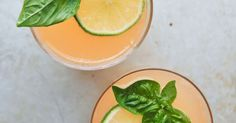 Lime-Grapefruit-Basil Gin Punch
