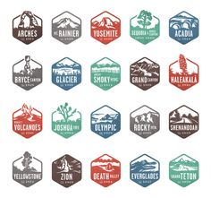 National Parks Stamps. check them off as you go!