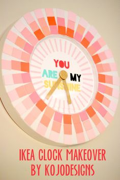 DIY Projects Made With Paint Chips - Paint Chip Clock - Best Creative Crafts, Easy DYI Projects You Can Make With Paint Chips - Cool Paint Chip Crafts and Project Tutorials - Crafty DIY Home Decor Ideas That Make Awesome DIY Gifts and Christmas Presents for Friends and Family http://diyjoy.com/diy-projects-paint-chips