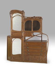 1899 art nouveau pear wood cabinet, Hector Guimard (collection of the Virginia Museum of Fine Arts)