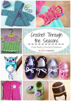 Crochet for Baby All Year Long.  Baby crochet patterns are some of the best crochet patterns to work up