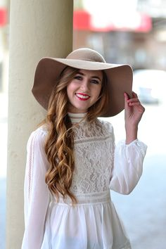 forever new lace blouse - cotton on hat