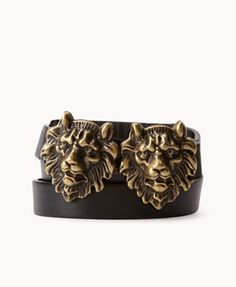 Plus Size Faux Leather Lion Belt $6.80