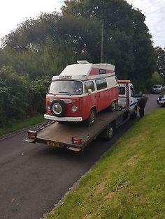 eBay: VW T2 campervan, rare palomino, bay window, red, project, vdub, camper, bus #vwcamper #vwbus #vw