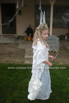 DIY Ice Witch of Narnia Child's Halloween Costume Idea: Most of the credit for this DIY Ice Witch of Narnia child's Halloween costume idea goes to your other contributor. I made a simple dress and dipped
