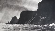 Norman Ackroyd, Cape Wrath. Etching, 2011