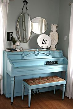 10 Pretty, Painted Pianos (Piano Painting)   A Pop of Pretty: Canadian Decorating Blog   Finding the pretty in an every day home   Affordable home decor ideas tips tutorials inspiration  St Johns NL