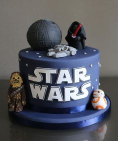 Kids Birthday Cakes - Star Wars Bday - Ideas of Star Wars Bday - Star Wars Birthday Cake with Chewbacca Kylo Ren Millenium Falcon and Death Star Star Wars Baby, Star Wars Kids, Star Wars Birthday Cake, Boy Birthday, Birthday Cakes For Boys, 5th Birthday Cake, Women Birthday, Birthday Ideas, Death Star Pinata