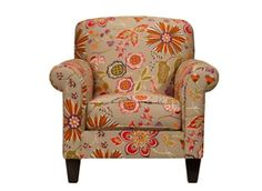 Lizzy Accent Chair | This chair is perfect for a transitional living room or even a sunroom.
