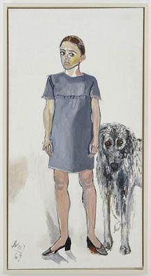 "Alice Neel, ""Julie and Aristotle,"" 1967, oil on canvas. (Worcester Art Museum)"