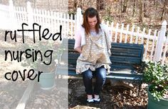 ruffled nursing cover.