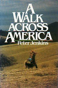 A Walk Across America by Peter Jenkins, http://www.amazon.com/dp/0688034276/ref=cm_sw_r_pi_dp_jF4yrb12VANVW Ever feel like packing a satchel and taking off to clear your mind of all the chaos? Peter Jenkins pulled it off. He hit the road with his beloved dog and ended up discovering America, and a lot about himself. A must-read for frustrated folks who have been too long on the treadmill of life. I lived this trip with the author.