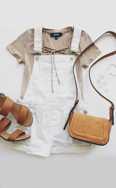 Your wardrobe can't be complete without the Blank NYC White Short Distressed Denim Overalls via Lulus