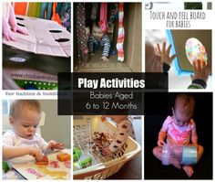Play Activities for Babies Aged 6 to 12 months that you can make yourself.