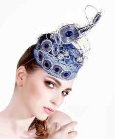 "Couture headpiece ""Le Bal des Débutantes"" created in Lallu Chic Couture Millinery Atelier. www.lalluchic.com #hats #millinery #couturemillinery #lalluchic #haniabulczynska #kapelusz #modystka"