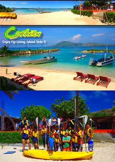 'Enjoy Fiji Living, Island Style'... Explore the Yasawa Islands and enjoy the #tranquility and #hospitality of Coral View Island Resort. A beach resort with lots of fun activities, entertainment, food and accommodation that will suit your budget.