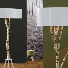 Cool refurbished trees into lamps! I really want to do this for the living room or bedroom.