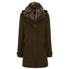 Hooded Parka with Faux Fur Collar | New In | George at ASDA