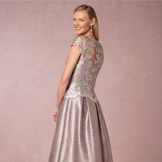 Sale HPx2 Anthropologie Adrianna Pappel Gown Host Pick x2 Gorgeous gown  smoky silver with soft lilac undertone and a lace top. This is a really unique and stunning gown that looks way more amazing In person. It's totally new with Tag never worn , only to try on. Size 8.  Anthropologie Dresses Prom
