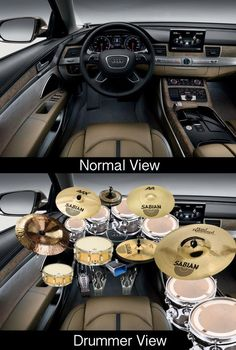 How a normal person sees a car, and how a #drummer sees a car..