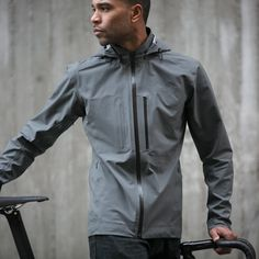 The Meridian Lightweight Waterproof Cycling Jacket || ACRE by Mission Workshop