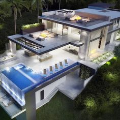 New Lyfe Feinste Luxus-Apartment Villa Design, Modern House Design, Terrasse Design, Beautiful Modern Homes, Luxury Homes Dream Houses, Luxury Life, Dream Homes, Modern Mansion, Mansions Homes