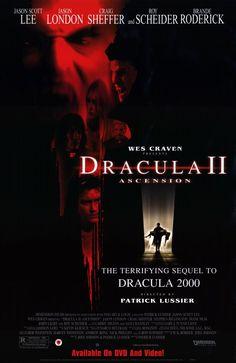 Wes Craven presents: Dracula II: Ascension / Wes Craven präsentiert Dracula II - The Ascension Dracula 2000, Dracula Film, Vampire Dracula, Jason Scott Lee, Diane Neal, Best Movie Posters, Horror Movie Posters, Wes Craven Movies, Vatican