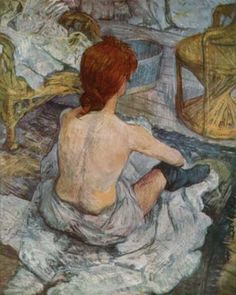 Henri De Toulouse Lautrec Rousse Art Print by colorfuldesigns - X-Small Henri De Toulouse Lautrec, Classic Paintings, Colorful Paintings, Lesbian Art, Paul Cezanne, Art For Art Sake, French Art, Female Art, Art History