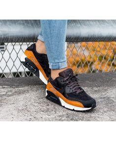 watch c4620 fdf0f Nike Air Max 90 LX Tar Black Cider Trainers Clearance