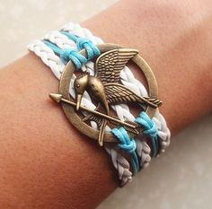 The hunger games Mocking jay BraceletAntique Brass by Especially2U, $6.99
